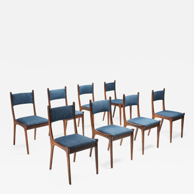 Mid Century Modern Dining Chairs in Weng and Cherry 1960s