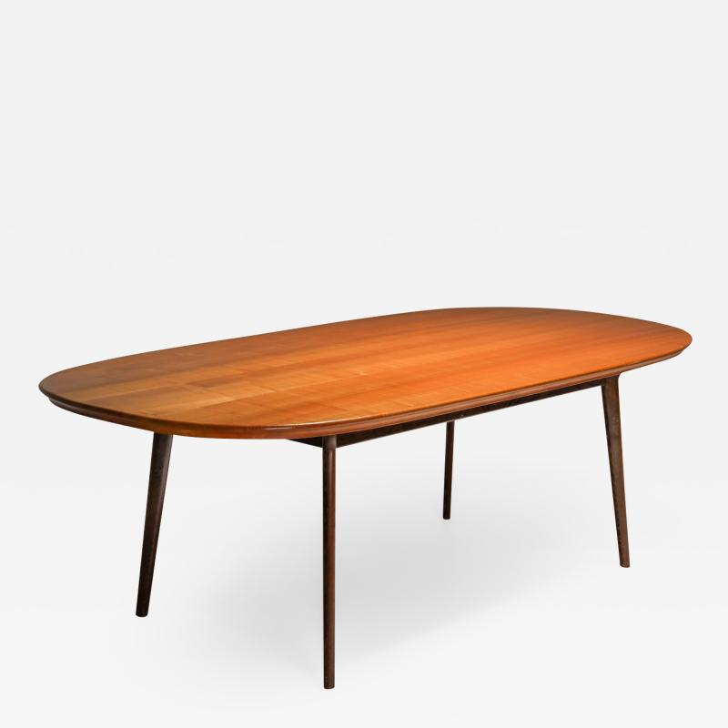 Mid Century Modern Dining Table in Weng and Cherry 1960s