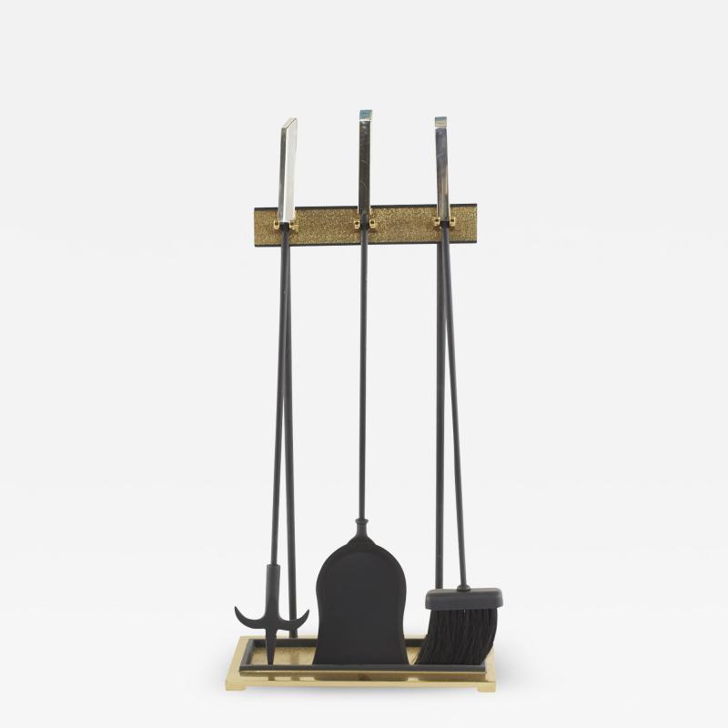 Mid Century Modern Fireplace Tool Set 4 Pieces