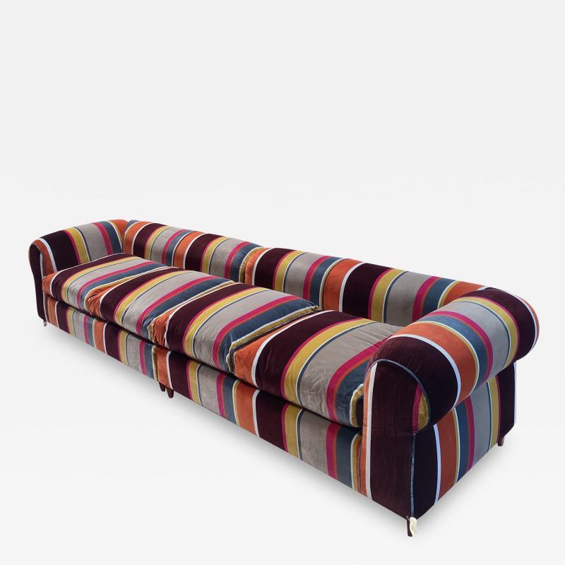 Mid Century Modern Italian Colorful sofa Italy 1980