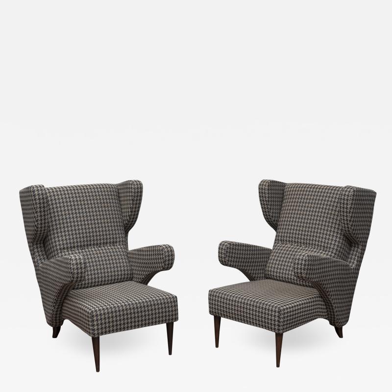 Mid Century Modern Italian Large Lounge Chairs