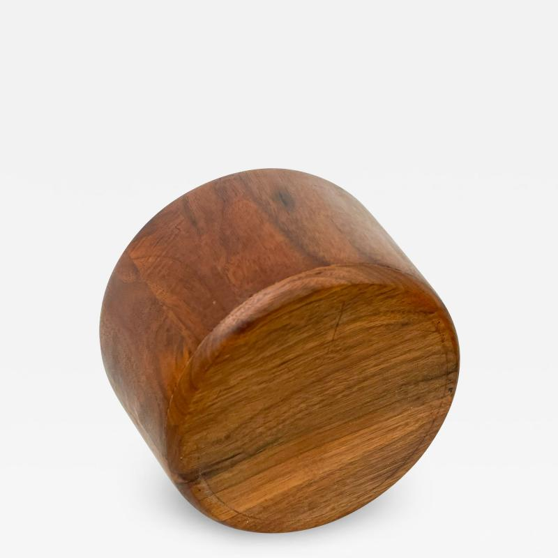 Mid Century Modern Sculptural Staved Solid Walnut Wood Bowl