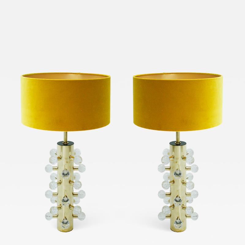 Mid Century Modern Style Pair of Sculptural Murano Glass Italian Table Lamps