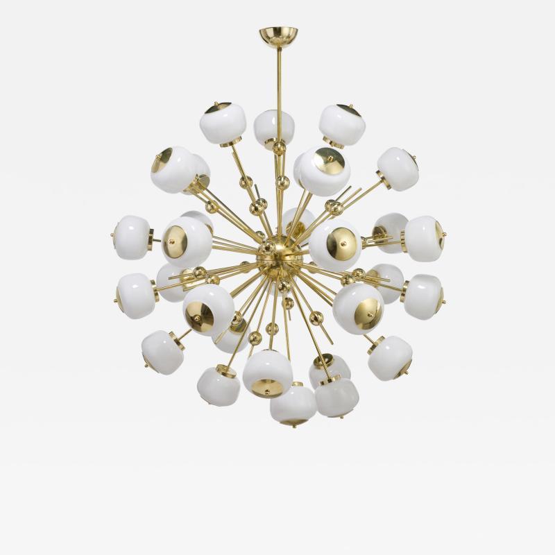 Mid Century Modern Style Sputnik Chandelier with Murano Glass Orbs