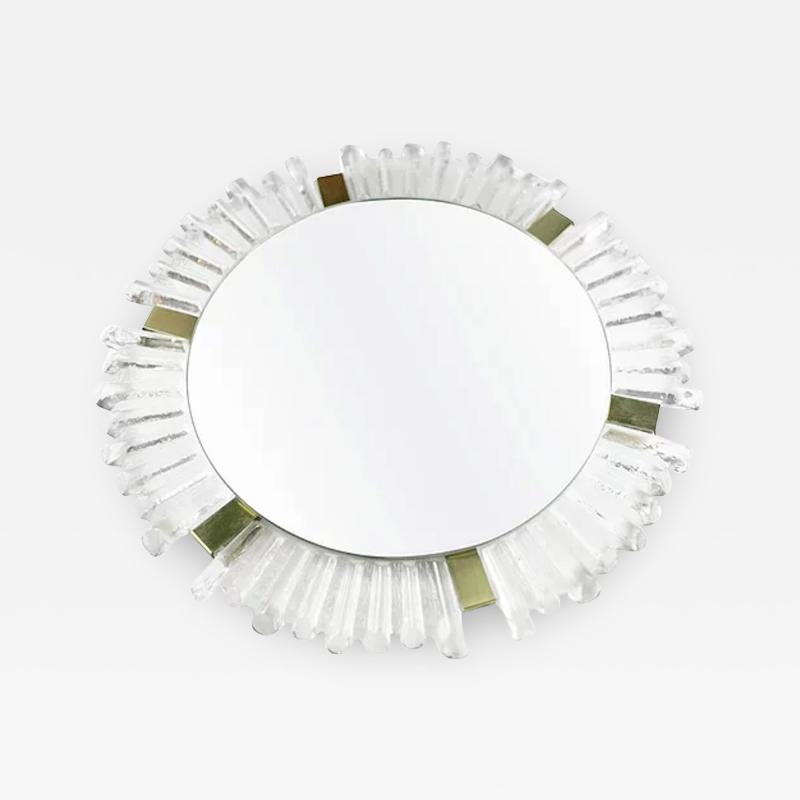 Mid Century Modetn Sunburst Crystal Mirror by Kalmar Austria 1960s