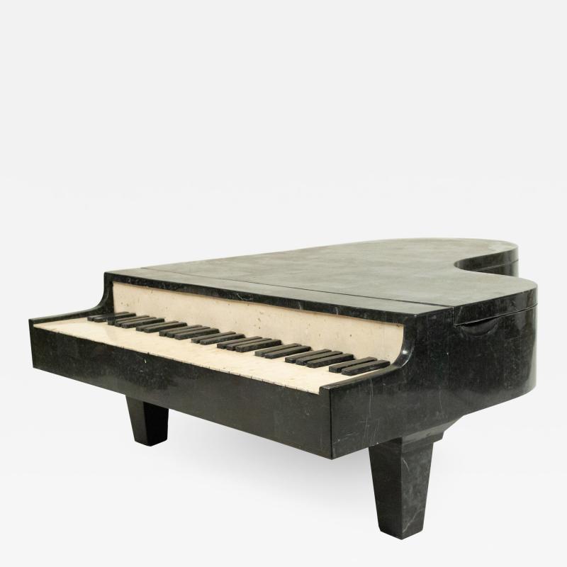 Mid Century Tessellated Hardstone Piano Shaped Coffee Table