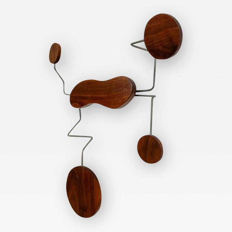 Mid century Modern Organic Wall Sculpture Catch All Hat Coat Rack