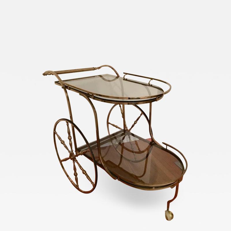 Midcentury Italian Brass Bar Cart