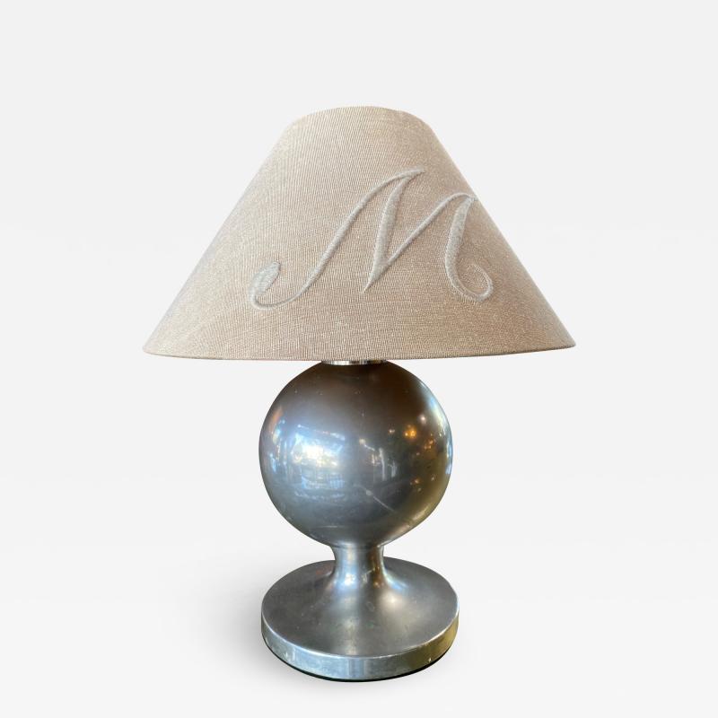 Midcentury Italian Chrome Table Lamp 1950s