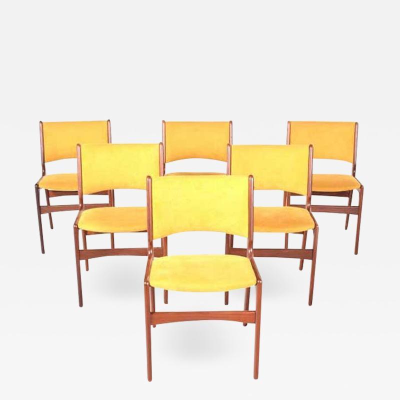 Midcentury Set of Six Teak Dining Chairs Denmark