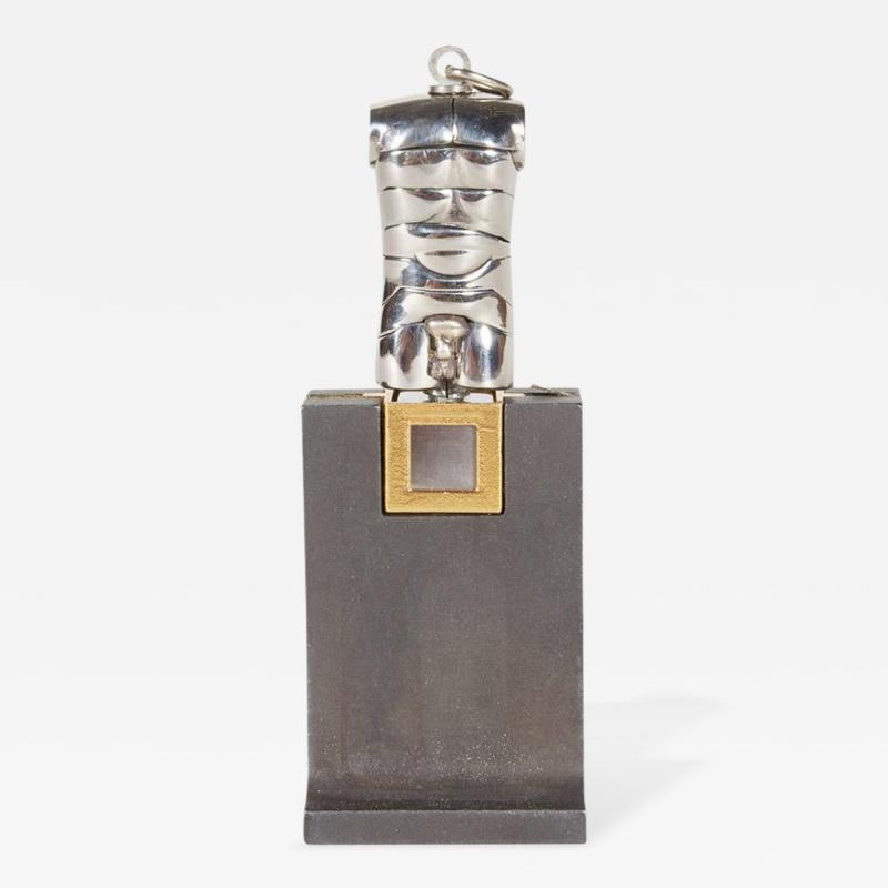 Miguel Ortiz Berrocal Berrocal Micro David Sculpture Pendant on Rare Original Stand