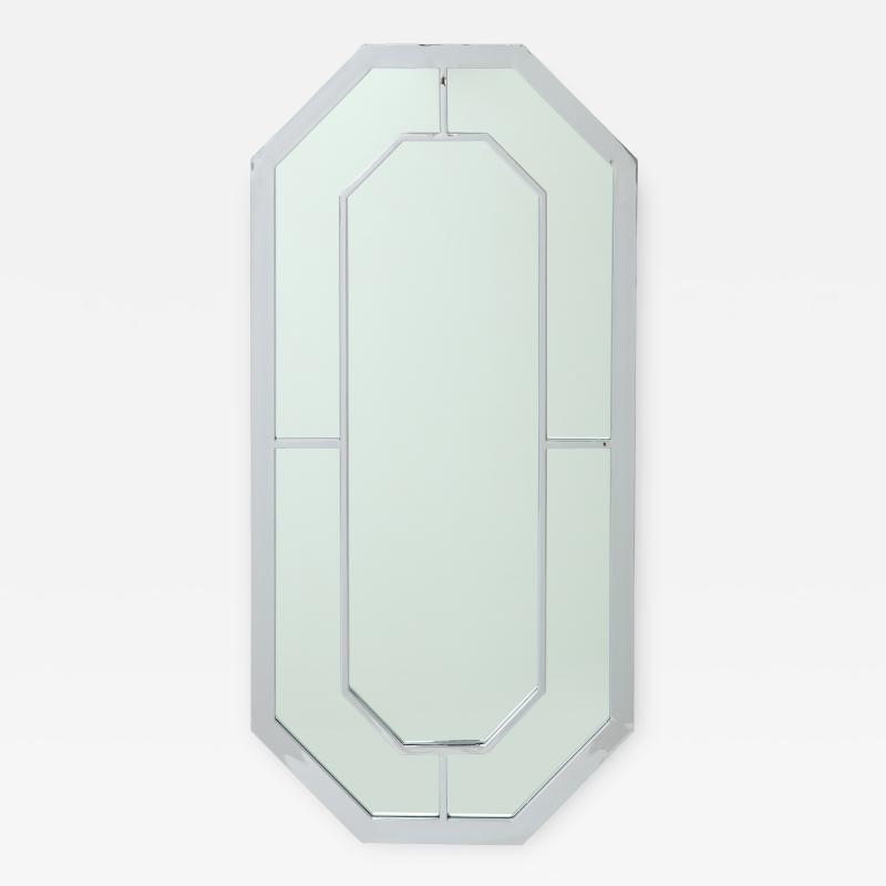 Milo Baughman 1970s Milo Baughman For Thayer Coggin Octagonal Chrome Mirror