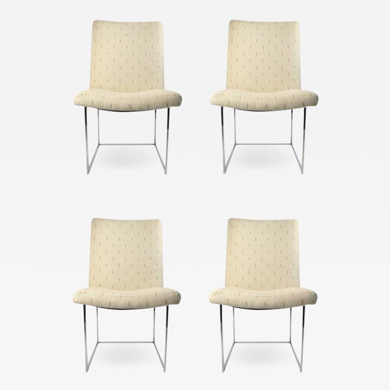 Milo Baughman Four Milo Baughman Side Chairs