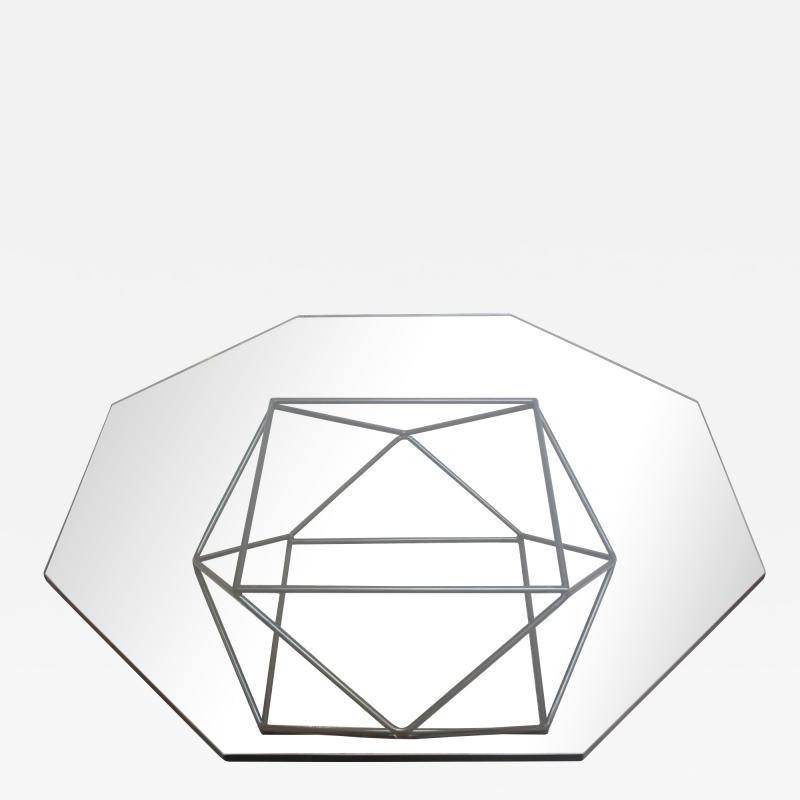 Milo Baughman Geometric Bronze Coffee Table by Milo Baughman for Directional