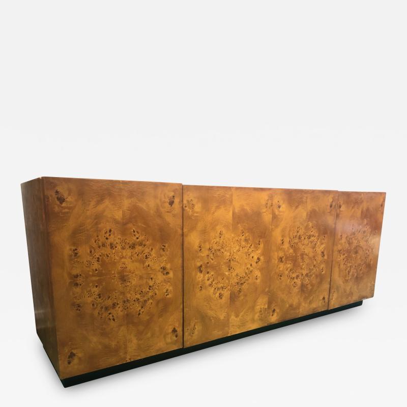 Milo Baughman Milo Baughman Burl Wood Sideboard Credenza