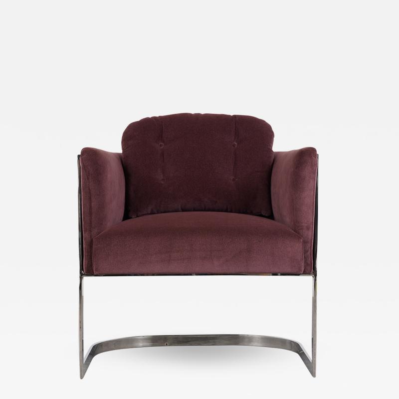 Milo Baughman Milo Baughman Chrome Lounge Chair