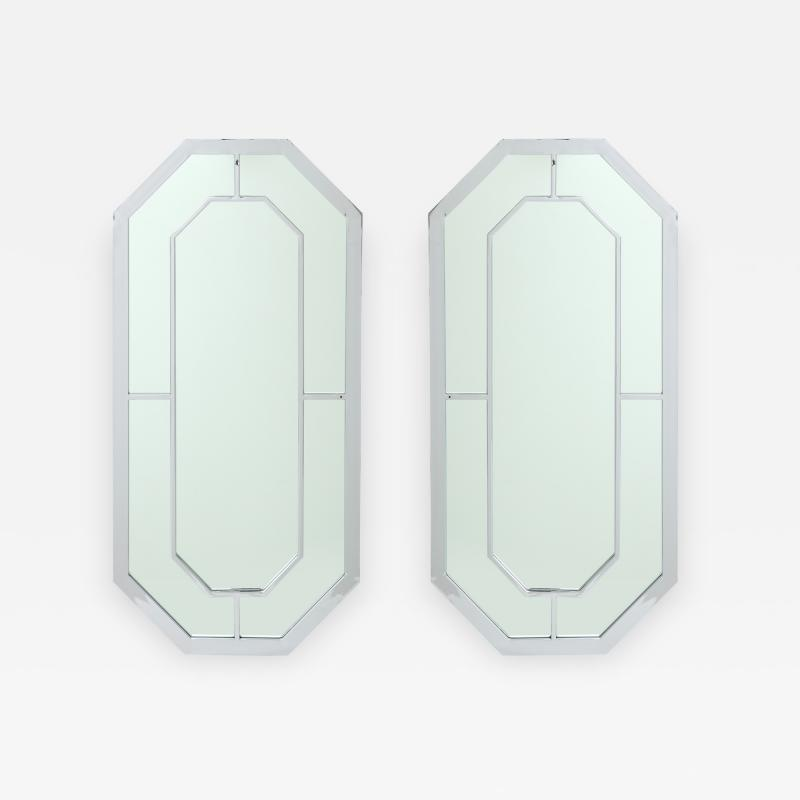Milo Baughman Milo Baughman For Thayer Coggin Octagonal Chrome Mirrors