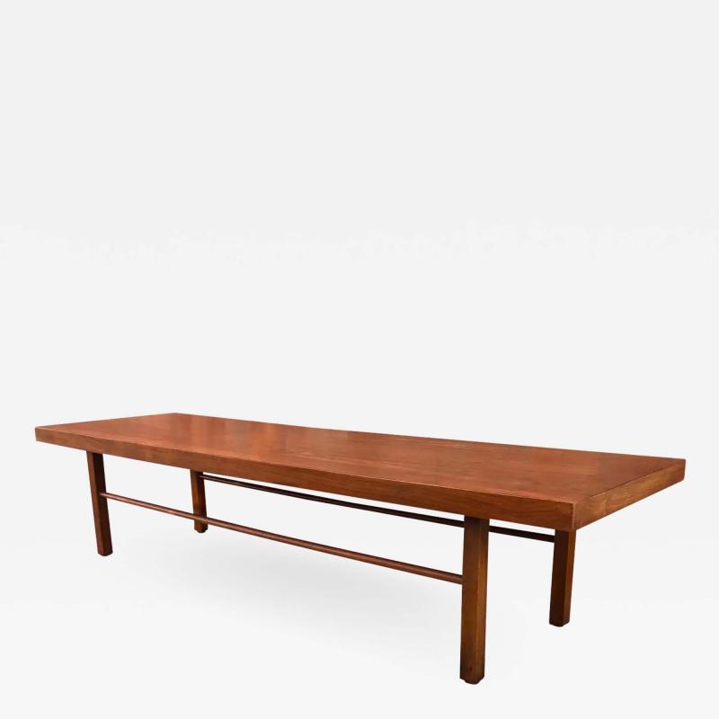 Milo Baughman Milo Baughman Low Walnut Long Bench or Coffee Table