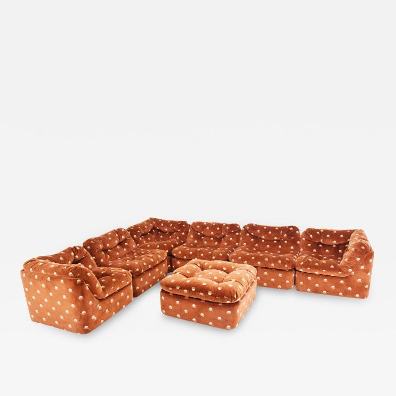 Milo Baughman Milo Baughman Seven Piece Cubo Sectional in Sienna