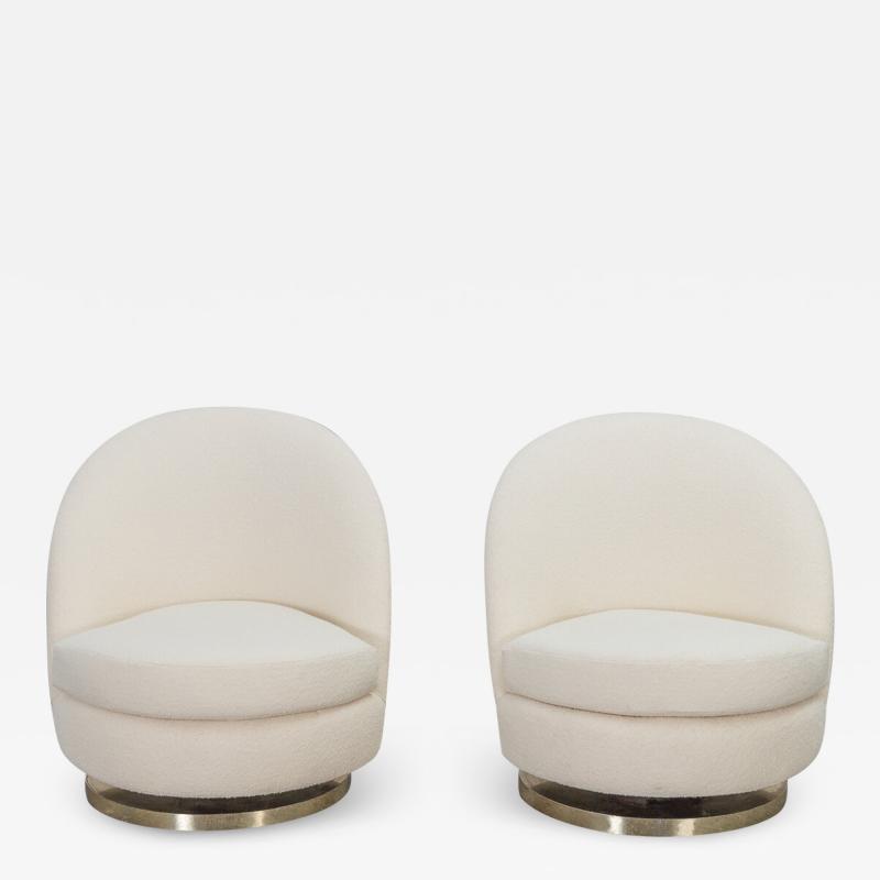 Milo Baughman Milo Baughman Swivel Lounge Chairs
