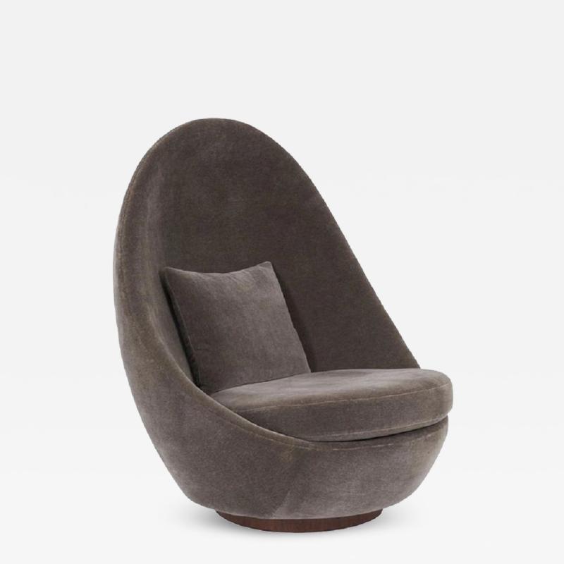 Milo Baughman Milo Baughman Swivel and Tilt Egg Chair