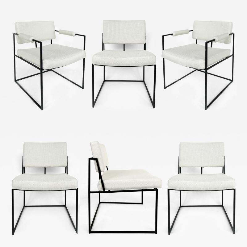 Milo Baughman Milo Baughman Thayer Coggin Dining Chairs Set of 6 circa 1971