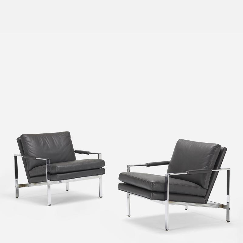 Milo Baughman Milo Baughman lounge chairs pair