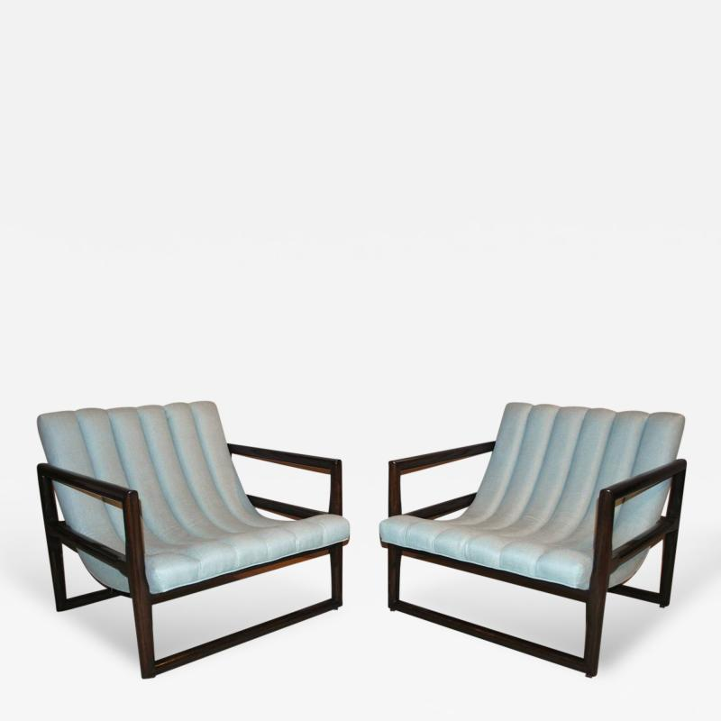 Milo Baughman Pair of Milo Baughman Cube Lounge Chairs