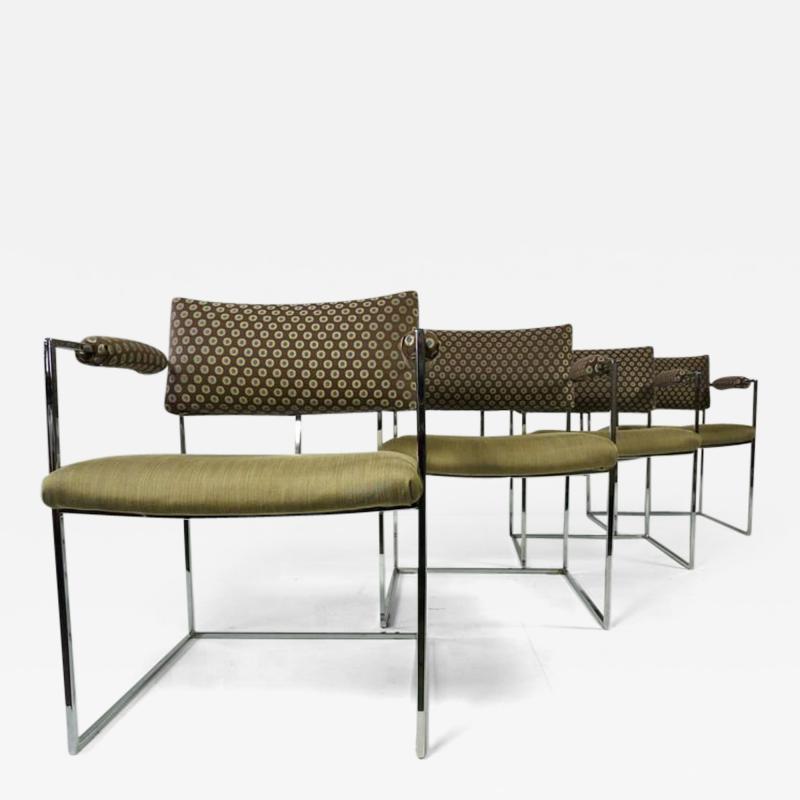 Milo Baughman Set of Four Milo Baughman Chairs