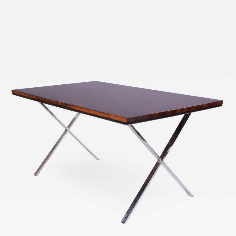 Milo Baughman Solid Rosewood Dining Work Table by Milo Baughman