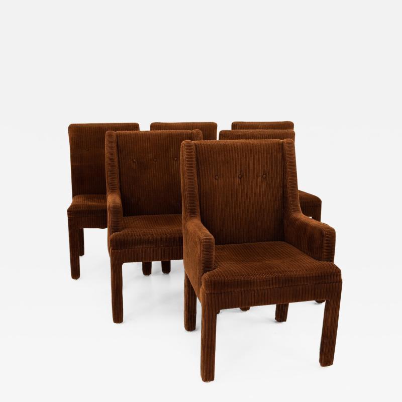 Milo Baughman Style Mid Century Dining Chairs Set of 6