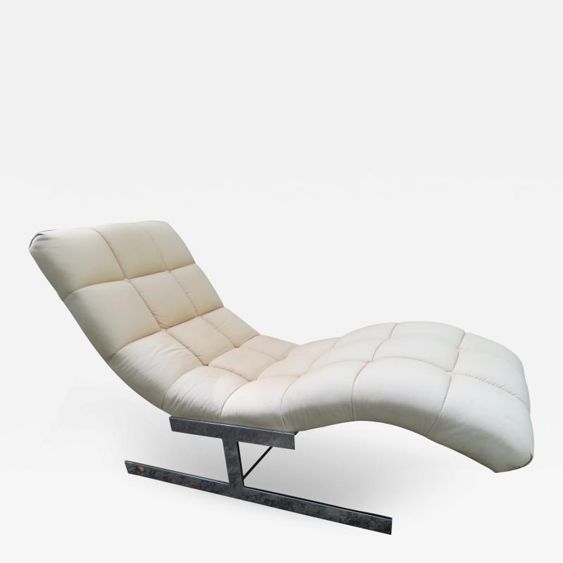 Milo Baughman Sumptuous Milo Baughman Wave Chaise Lounge Chair Midcentury