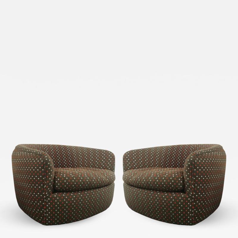 Milo Baughman Swivel Tub Chairs designed by Milo Baughman