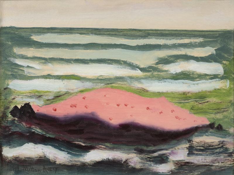 Milton Clark Avery Pink Island White Waves