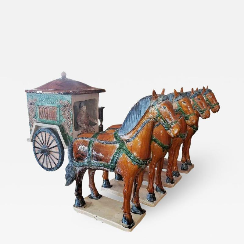 Ming Style Horses and Carriage
