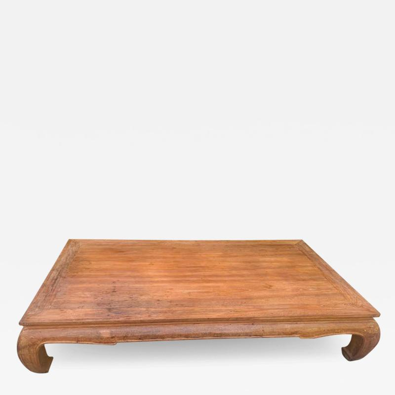 Ming Style Patinated Wooden Cocktail Table
