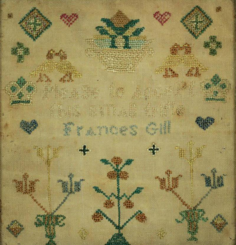 Miniature Antique Sampler by Frances Gill