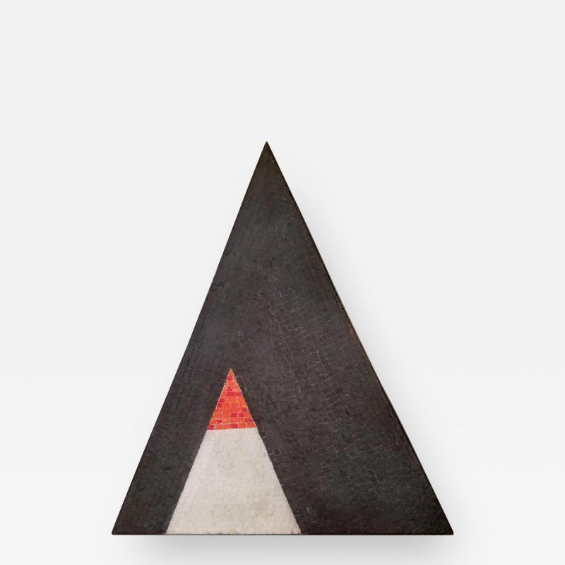 Minimal Triangle Coffee Table Mosaic Netherlands Circa 1960