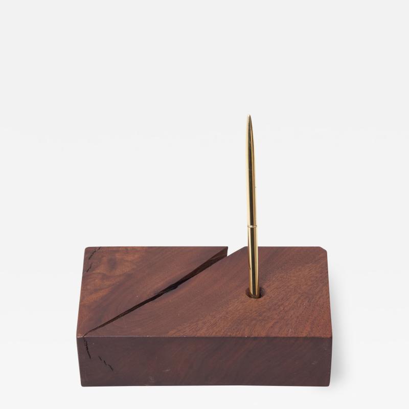Mira Nakashima Signed Wooden Pen Holder by Mira Nakashima USA 2001