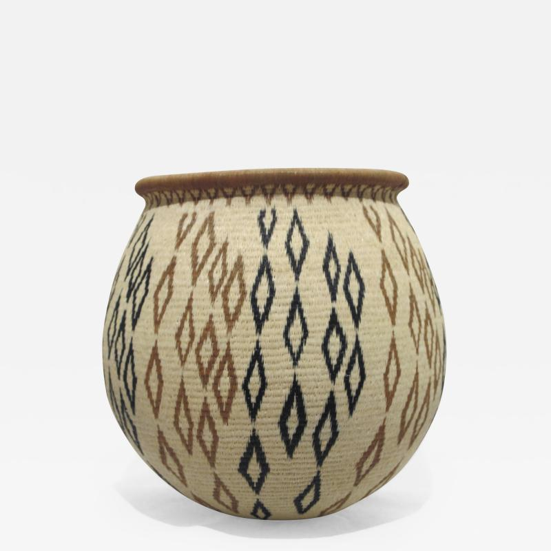 Miriam Cansare Rainforest Basket Panama Geometric
