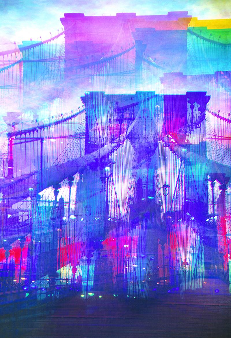 Mitchell Funk Brooklyn Bridge Mulitple Exposure