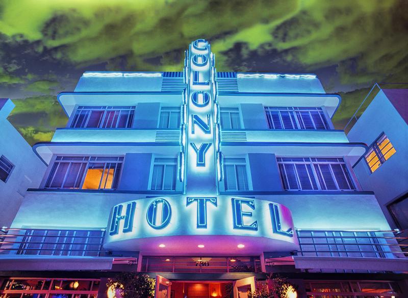 Mitchell Funk Miami Beach Art Deco Colony Hotel