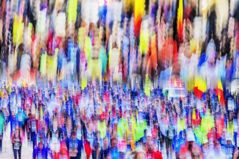 Mitchell Funk New York City Marathon Runners Blur