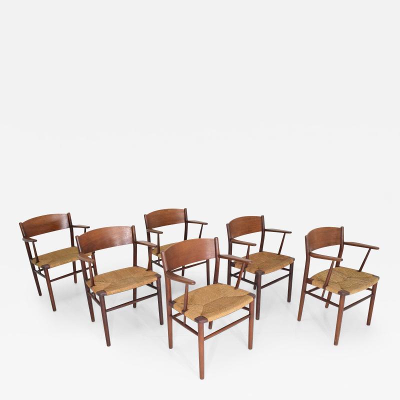 Mobel Fabrik B rge Mogensen Dining Chairs by S borg M belfabrik in Denmark