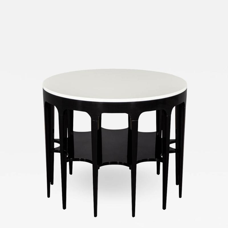 Modern Black and White Custom Center Table
