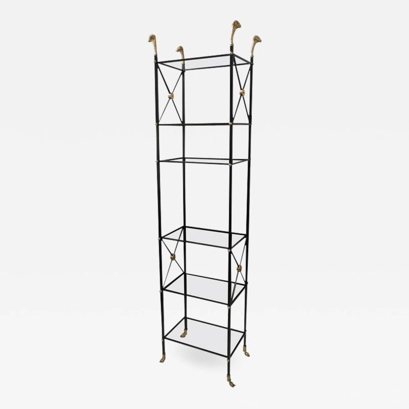 Modern Ebonized Bookcase Etagere in the Regency Manner