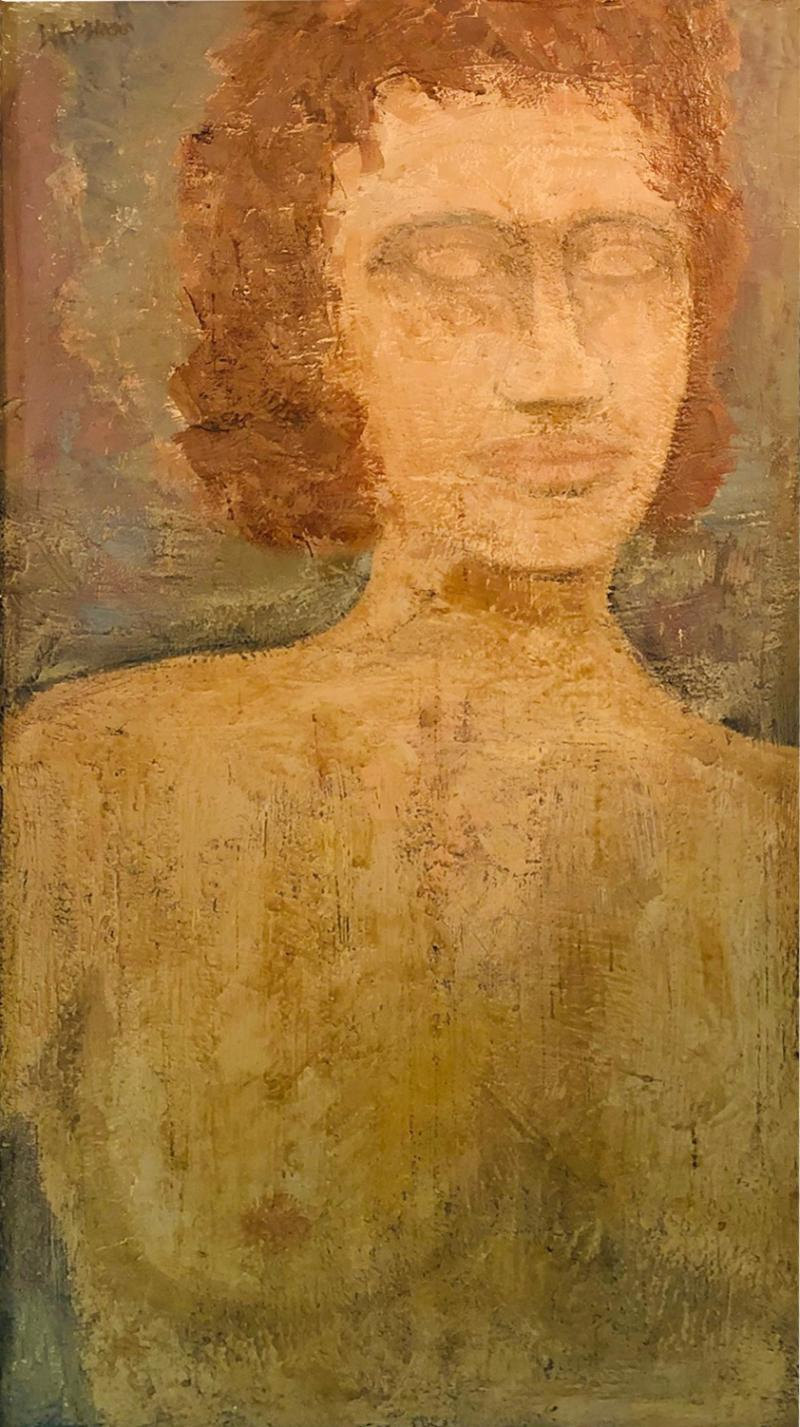 Modern Oil on Board Portrait
