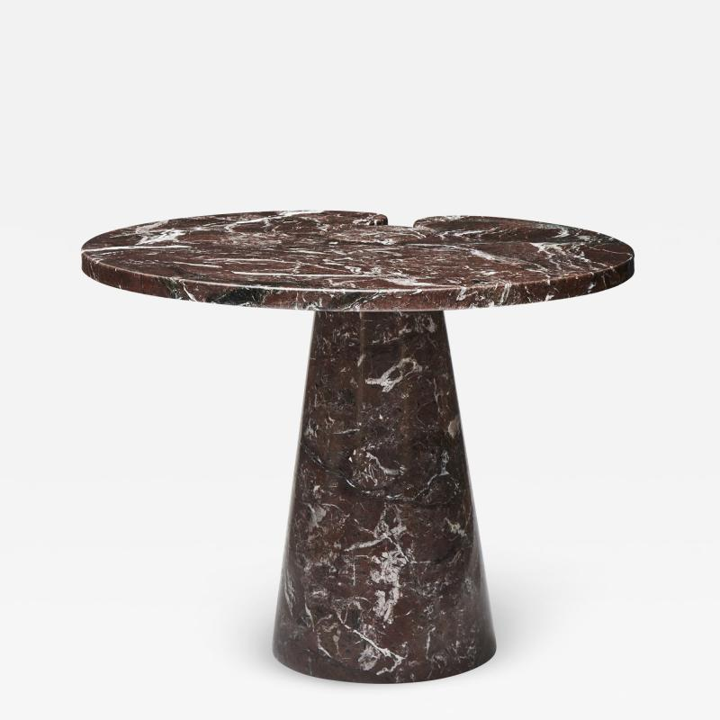 Modern Small Griotte Marble Side Table