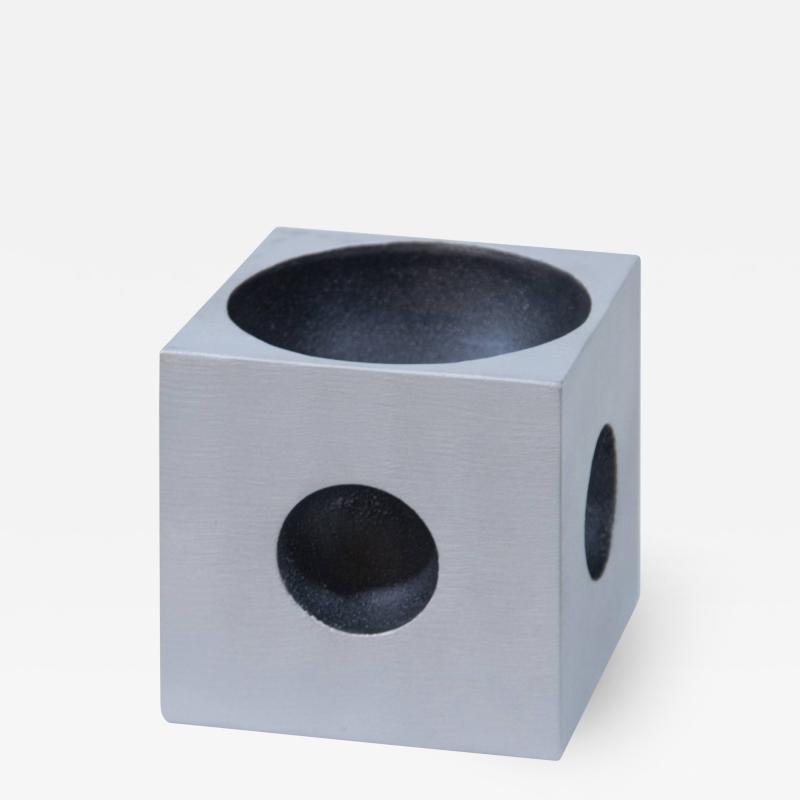 Modernist Cube Sculpture by Artist Lorenzo Burchiellaro