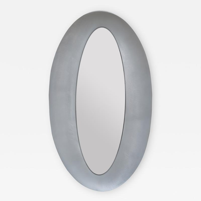 Modernist Oval Mirror by Lorenzo Burchiellaro